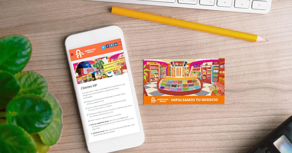 Colaboración Digital con Aperitivos Snack Clientes VIP