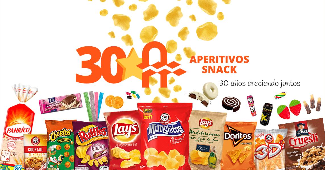 Carta 30 Aniversario Aperitivos Snack web