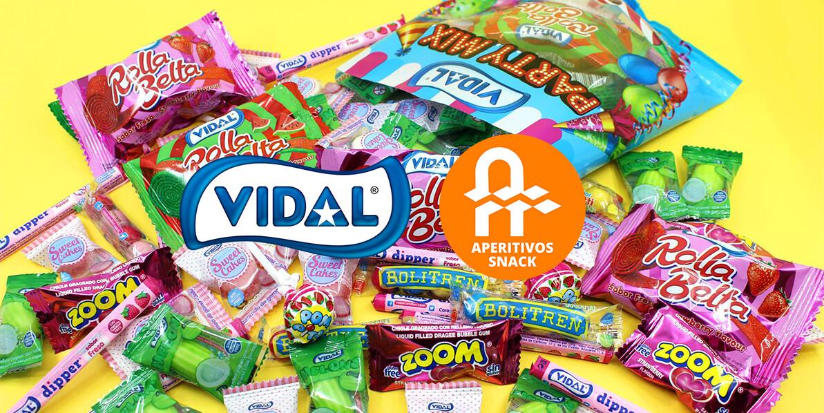 Bienvenidos Vidal Golosinas a Aperitivos Snack web