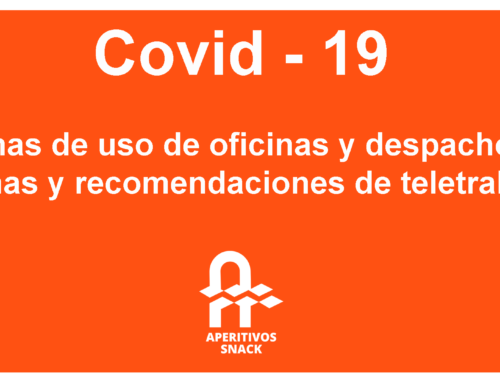 Protocolo Covid-19: Normas de uso de oficinas y despachos, normas y recomendaciones de teletrabajo