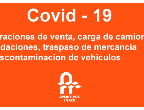 Protocolo Covid 19: Operaciones de venta, carga de camiones, liquidaciones, traspaso de mercancía y descontaminación de vehículos