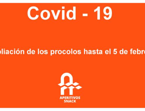 Ampliación de los protocolos Covid-19 hasta el 5 de febrero