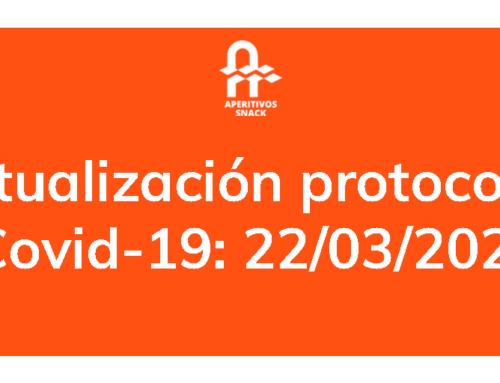 Actualización protocolos Covid-19: 22/03/2021