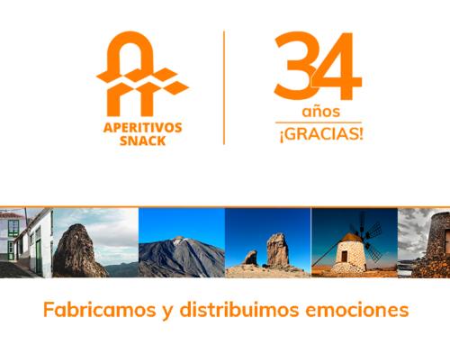 Aperitivos Snack, 34 años fabricando y distribuyendo emociones en Canarias
